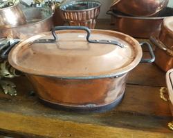 Gros Faitout 18ème en cuivre genre Daubière