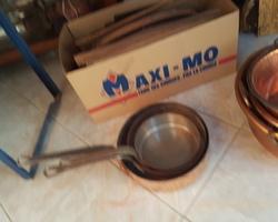 Lot de casseroles en cuivre début 19ème