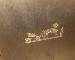 Pendule de voyage Hermès en bronze