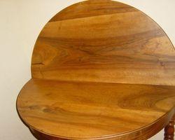 Table demi lune en noyer louis philippe