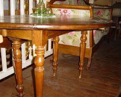 Table ronde 6 pieds en chêne
