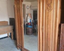 Armoire 3 portes de style louis XVI