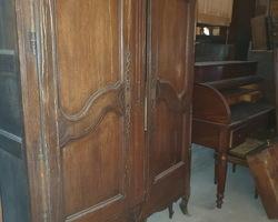 small Lorraine Vosges cabinet in oak 19th