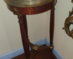 Louis XVI style bolster adorned with bronze  mahogany, marble top  manufacture around 1910/1920