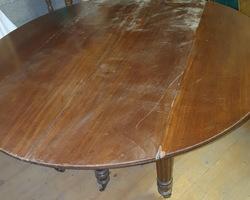 grande table 6 pieds en acajou