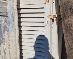 Wooden shutters of various sizes