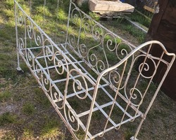 19th century metal child's bed