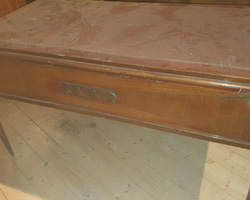 Mahogany and Cuban flat desk and armchair  art deco period (around 1925)