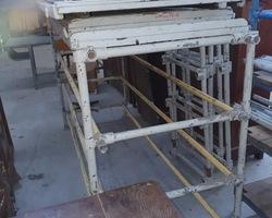 Etagères de filature en bois et métal