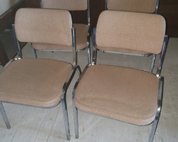 4 chairs from the 70s  chromed metal frame