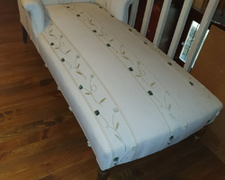 Napoleon III day bed  fully restored  (traditional woodwork and tapestry)