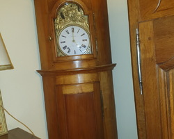 19th century cherry wood floor clock 1820/1850