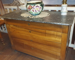 commode restauration en noyer