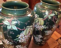 exceptionnelle paire de vases de la fin du 19ème
