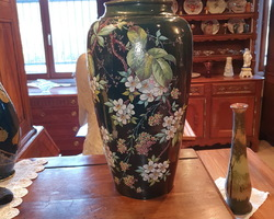 exceptional pair of vases by size and quality of realization late 19th