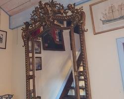 golden mirror from the Napoleon III period