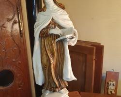 Statue de la vierge en faïence début 1900