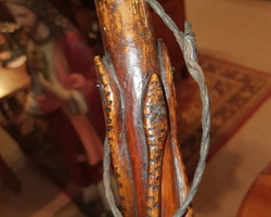 Canne de poilu sculptée