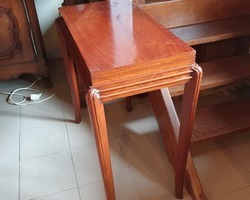 """Art deco period mahogany game table called """"wallet"""""""