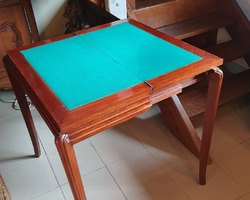 "Art deco period mahogany game table called ""wallet"""