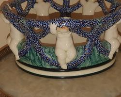 Coupe en porcelaine de saxe 19ème