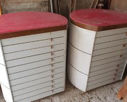 2 meubles à tiroirs d'office notarial des années 70