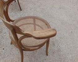 Fauteuil début 1900 en bois courbé de FISCHEL