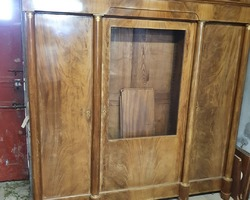 Empire style 3-door bookcase (1950) in mahogany