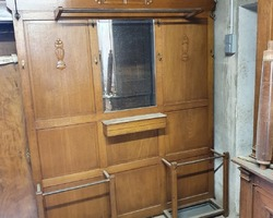 Large Art Deco oak cloakroom