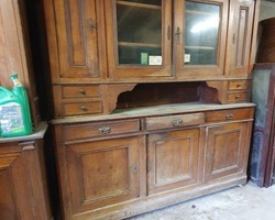 Buffet louis Philippe in cherry wood in cellar