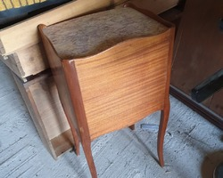 Louis XV style bedside table from the 1920s in rosewood and marble top