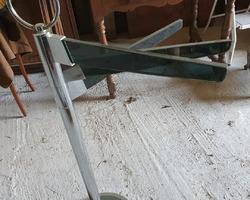 Porte serviettes en verre et métal chromé des années 60