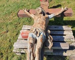 Monumental christ en fonte du 19ème