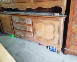 Lorraine sideboard 5 doors 3 central drawers in oak early 19th century