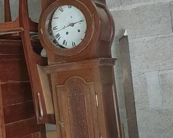 Lorraine parquet floor clock in oak early 19th
