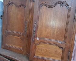 Lorraine oak sideboard from the Vittel region
