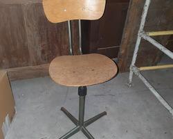 Chaise de table à dessin des années 50