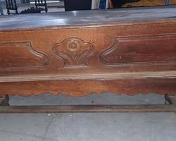 Pétrin cercueil lorrain début 19ème en chêne