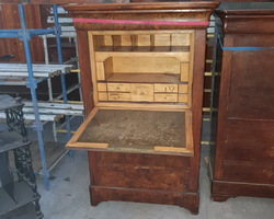 Secretary from the restoration period with a nice light interior (lemon tree and ebony fillet)