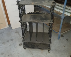 Porte partitions Napoléon III en bois noircit