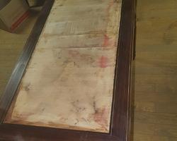 petit bureau plat de la mi 19ème en palissandre