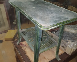 Pedestal table from the FAR brand  Enamelled cast iron  around 1930/1950