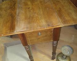 Louis Philippe period walnut bedside cabinet