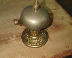 Sonnette de comptoir d'hôtel en bronze 19ème