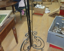 Piétement de lampadaire en fer forgé des années 30