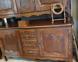Buffet Lorrain 5 portes et 3 tiroirs en chêne 18ème