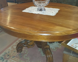 Louis Philippe period central walnut table