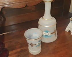 Decanter and its opaline goblet late 19th century