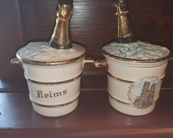 2 Ice buckets with the effigy of Reims