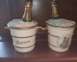 2 Seaux a glaces à l'effigie de Reims